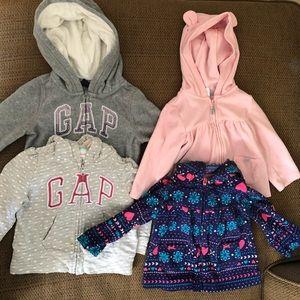 12-18 month sweatshirts/fleeces. Toddler girl.